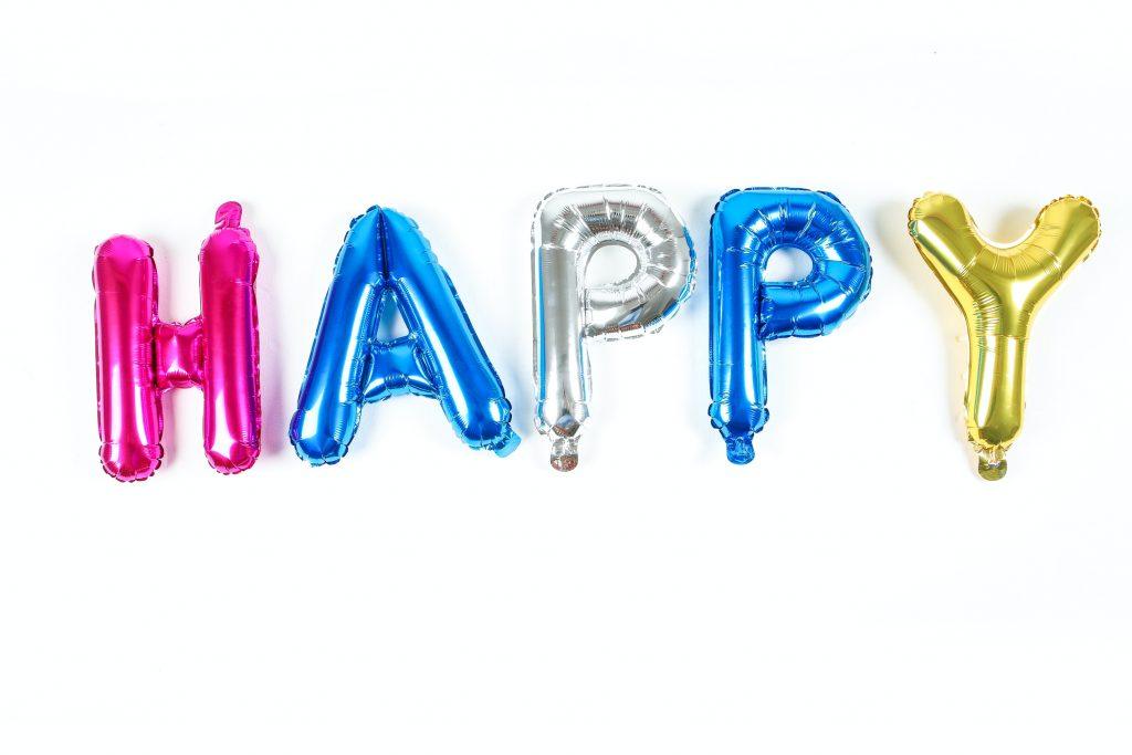 Ballons Mylar Happy coloré